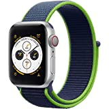 Nylon Loop Band Apple Watch 40mm / 38mm Series 1/2/3/4 Replacement Strap Wristband Bracelet - Neon Lime