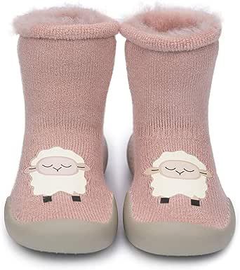 Adorel Baby H/üttenschuhe Gef/üttert Socken Anti-Rutsch 2 Paar
