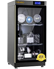 HINISO AD 50L 50 litres Camera Dry Cabinet with Electronic Display (Black)