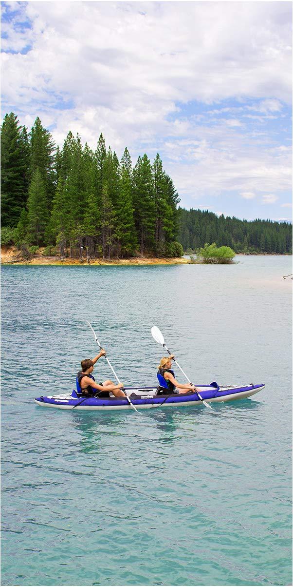 71 pDcvdvpL - Aquaglide Columbia XP XL Tandem Kayak + 2Free Paddles + Pump