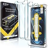 EGV Compatible avec iPhone 12/iPhone 12 Pro Verre Trempé,3 Pack,Film Protection en écran Protecteur, Installation Facile,avec