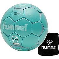 Hummel Kinder Handball Kids 091792 Größe 00/0/1 im Set mit Schweißband Old School Small Wristband 99015 (schwarz)