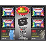 KADAM DISTRIBUTER'S Fabric Dyes Colour, Shade 17 Black, Pack of 10 Pouches