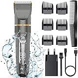 Tondeuse, MoEvert Professionele Haartrimmer IPX6 Waterdicht Elektrische Langhaartrimmer Oplaadbaar Haarscheerapparaat Baardtr