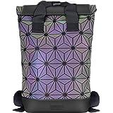 Geometrische Lingge Rucksack Erweiterbar Große Kapazität Leuchtende Reflektierende Reise Daypack Fashion School Rucksack