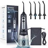 Water Flosser for Teeth, PECHAM Portable Cordless Oral Irrigator Water Dental Flosser IPX7 Waterproof 300ML 3 Modes 4…
