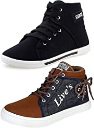 Ethics Men's Perfect Combo Pack of 2 Synthetic Casual Sneakers Shoes for Men