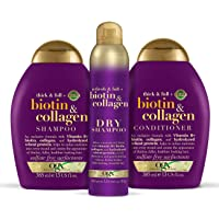 OGX Biotin & Collagen Shampoo, Conditioner and Dry Shampoo Set