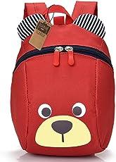 Kinderrucksack TEAMEN Anti Verloren Kinder Rucksack Mini Bär Schule Tasche für Baby Jungen Mädchen Kleinkinder 1-3 Jahre
