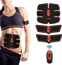 Elettrostimolatore per Addominali HURRISE Elettrostimolatore Muscolare Professionale Addome/braccio/Gambe/Waist/Glutei Massaggi-attrezzi, USB Ricaricabile, Funzionamento del Telecomando Senza Fili (uomo/donna)