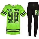 New York 98 NET - Conjunto de camiseta y leggings para niña, 2 piezas, para niños de 7 a 13 años