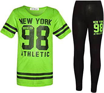 7STYLES/® Girls JUST DO IT Later Short Sleeve T-Shirt Top /& Legging Fashion Gift Set 7-13