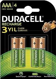Duracell 750 Şarj Edilebilir Pil, 4'lü, AAA, 750 Mah, Bakır/Siyah