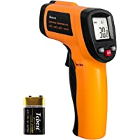 Helect Thermomètre Infrarouge, Sans Contact Laser Thermomètre Infrarouge de -50°C à 550°C, Ecran LCD Rétroéclairé (Pas…