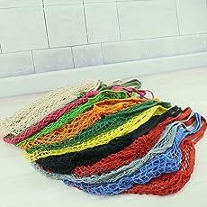 RETON 15 inch Netztasche Organic Cotton String Einkaufstasche Net Woven Wiederverwendbare Tasche