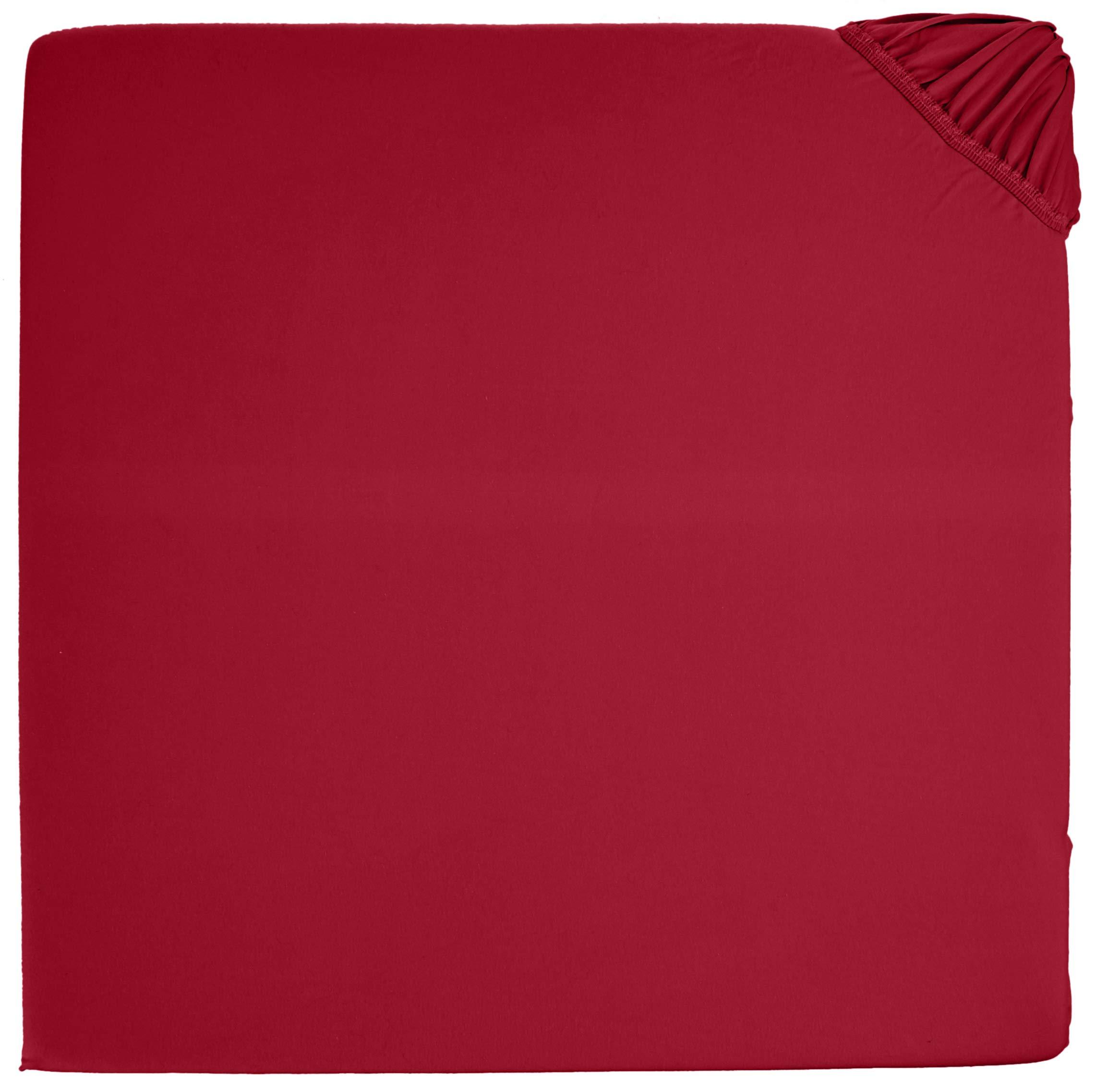 Lenzuola 160 X 190.Amazonbasics Lenzuolo Con Angoli In Jersey Di Qualita Superiore Rosso 160 X 190 Cm Casame