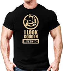 dk Bodybuilding Gym T Shirt, Gym Clothing, Workout T Shirt, Look Good Print