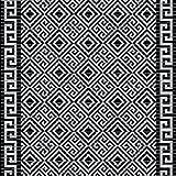(7,49€/m) Weichschaummatte Antirutschmatte Badezimmermatte Sicherheit Badvorleger Badezimmer WC Meterware - Küche 65cm breite | Farbe : 4017-1 Greek Ornamente schwarz