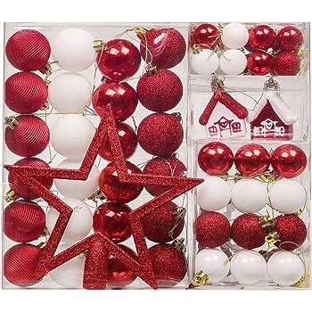 24 Stuck Weihnachtskugeln Box Christbaumschmuck Aus Kunststoff Bis 6