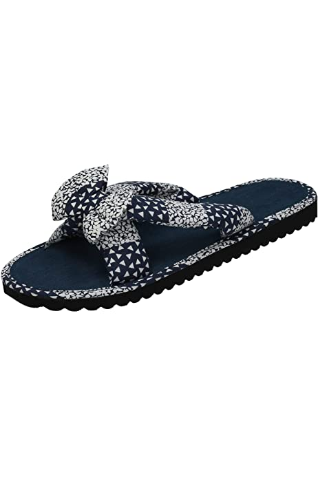 Ladies Spot On Flip Flops *Denim Mule*