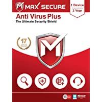 Max Secure Anti-Virus Plus - 1 PC, 3 Years (Email Delivery in 2 Hours - No CD)