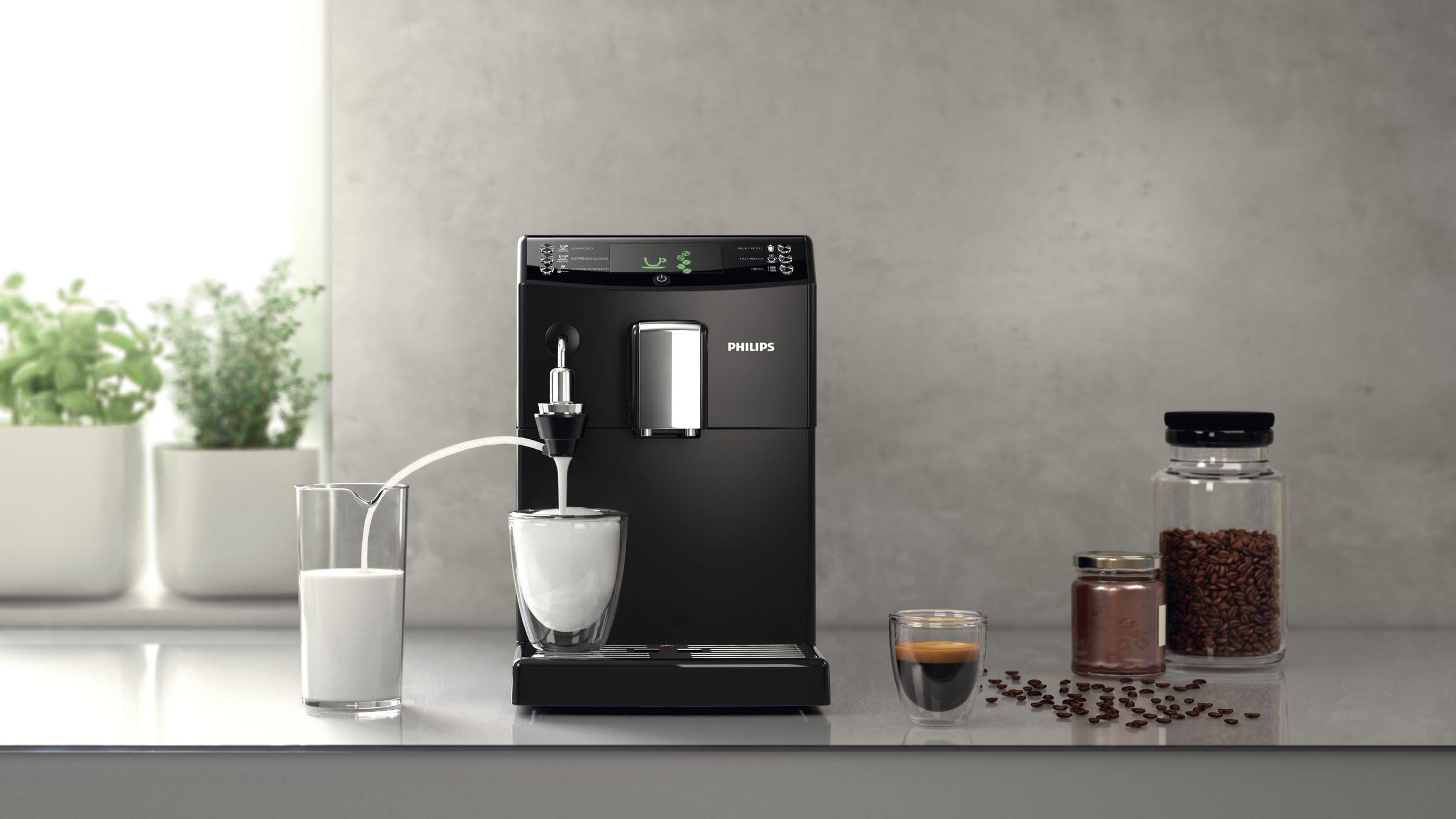 Philips-HD883201-3100-Serie-Kaffeevollautomat-automatischer-Milchaufschumer-schwarz