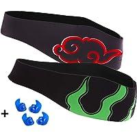 Bandeau de natation - conçu pour aider à prévenir les oreilles du nageur -oreilles et protège-oreilles - empêche la pénétration de l'eau et maintient les bouchons d'oreille dans une bande imperméable