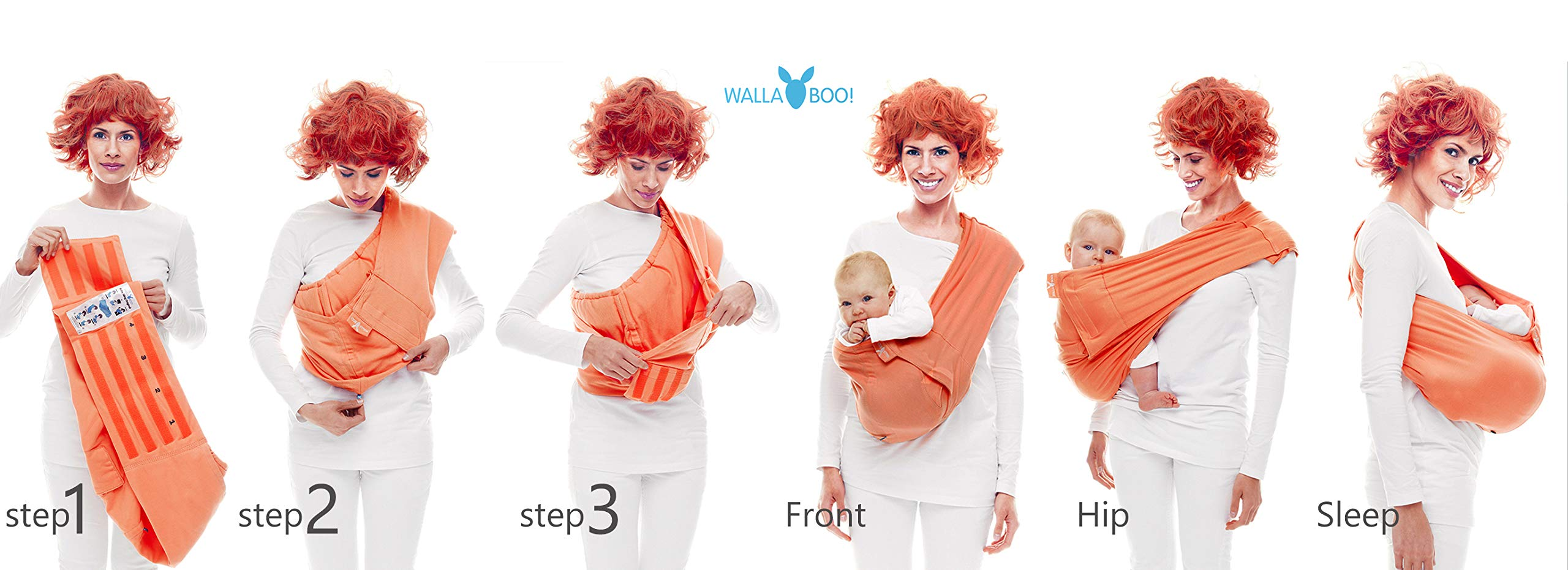 Wallaboo Wrap Sling Carrier Connection, Easy Adjustable, Ergonomic, 3 Carrying Positions, Newborn 8lbs to 33 lbs, Soft Breathable Cotton, 3 Sitting Positions, EU Safety Tested, Color: Green / Grey Wallaboo One size fits all, adjustable in size to fit every mum and dad Can be used for a preemie up to 33 pound child Keeps baby warm in 3 different positions: sleep, sit and active 12