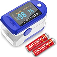 Wembley Pulse Oximeter Digital Pulse Oximeters LED spo2 pulse oximeter fingertip Oxymeters For Oxygen Level oxygen meter finger oximeter Heart Rate Monitors With Battery Included (CE, FCC & ROHS Certified)