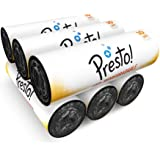 Amazon Brand - Presto! Oxo-Biodegradable Garbage Bags, XL (30 x 37 inches) - 10 bags/roll (Pack of 6)