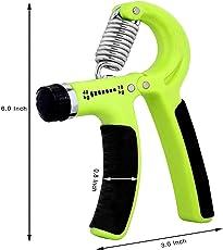 SIXON Sports Hand Grip Strengthener Strength Trainer Adjustable Resistance 10-40 Kg Hand Exerciser Non-Slip Gripper (A56)