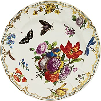 V & A–Victoria and Albert Museum Pink Butterfly Painted Tin Enamel Plate–picnic o campeggio