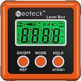 Neoteck Bevel Box Digitale LCD-gradenboog, hellingsmeter, inclinometer, waterdicht, hoekmeter, waterpas, oranje