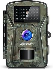 apeman Wildkamera 12MP 1080P mit Infrarot-Nachtsicht bis zu 65 Fuß/20 m IP66 Spray Wasserdicht für Outdoor-Natur, Garten, Haussicherheitsüberwachung (Green)