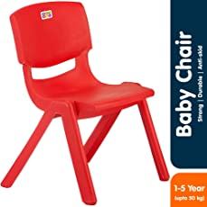 Bey Bee - Bey Bee - Strong & Durable Plastic Baby Chairs for Kids | Toddler | School Study Chair (1-4 Years) (Red)