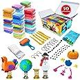 Kit d'argile à modeler - 50 couleurs d'argile magique séchant à l'air, argile à mouler ultra douce pour le bricolage, artisan