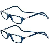 TBOC Pack: Lunettes de Vue Lecture Presbyte - (Deux Unités) Dioptrie +1.00 Monture Bleu Femme Homme Aimant Fermeture…