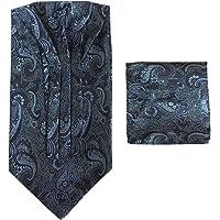 L&L® Paisley Cravat Ascot Tie & Pocket Square Floral Hanky Wedding Handkerchief UK