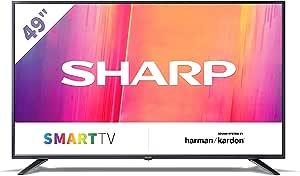 Sharp 49bj3e 123 Cm 49 Zoll 4k Ultra Hd Smart Led Tv Hdr Harman Kardon Soundsystem Triple Tuner Heimkino Tv Video