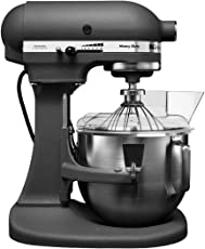 KitchenAid 5KPM50BGR 315 Watt Bowl Lift Stand Mixer with Flat Beater, Dough Hook, Whisk, Two Stainless Steel Bowls & Pouring Shield (Grey)