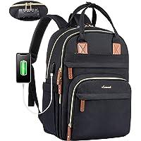 LOVEVOOK Rucksack Damen 15,6 Zoll Laptop Rucksack Damen Groß mit USB Ladeanschluss, Schwarz wasserdichte Rucksack…