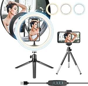 8 Zoll Ringlicht Selfie Ringleuchte Mit Stativ Kamera