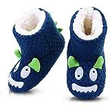 LULEX - Pantofole invernali a forma di animale, in maglia morbida, con stivaletti