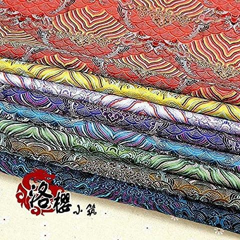 Nuevo tejido de seda de damasco satén traje hanfu la ropa del bebé del vestido formal del kimono de la ropa cos jacquard tela de brocado Moir
