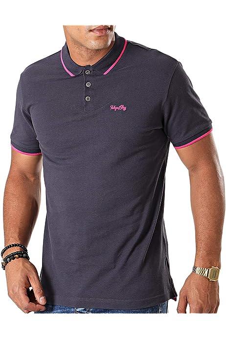 Tokyo Camiseta de algod/ón piqu/é con cuello redondo para hombre