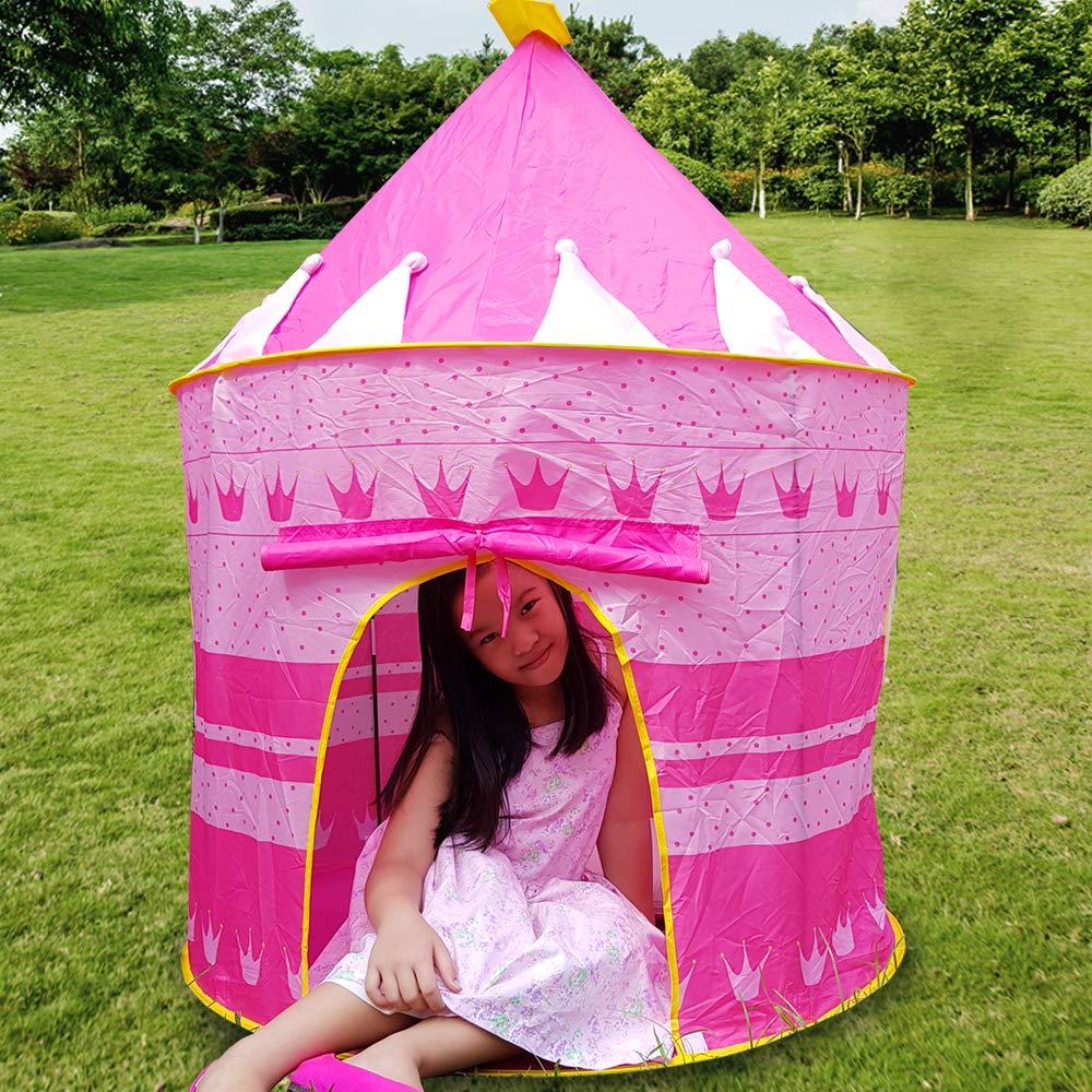 Agreatlife Pink Castle Tent For Girls Indoor Or Outdoor