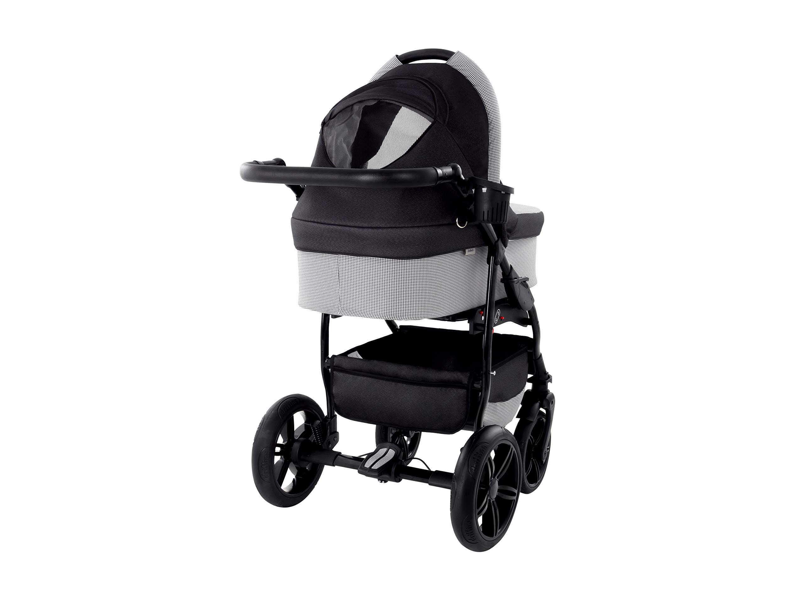 Baby Pram Zeo Wind 3in1 Set - All You Need! carrycot Gondola Buggy Sport Part Pushchair car seat (54) Zeo 3 in 1 combination stroller complete set, with reversible seat units to the buggy, child car seat or baby carriage The baby carriage is suitable for babies from 0 months to 3 years (0-15 kg) Has 360 ° swiveling wheels, four-fold suspension, four-stage backrest, five-position adjustable footrest and a five-point safety belt 5