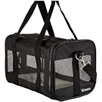 Risan Pet Transport Carrier Bag for Small Dogs Puppy Kittens Airline Travel Breathable Mesh Panels for Ventilation - 20…