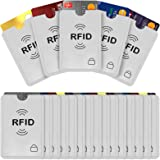 Savisto RFID Blocking Credit Card Sleeves | 20 Pack of Contactless Card Protection Holders for Identity Theft Protection - Id
