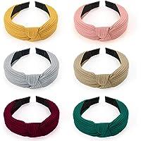 HBselect 6 PCS Cerchietti per Capelli Tinta Unita 6 Colori Diversi Rivestimento in Tessuto Cerchietto Capelli per Donna…